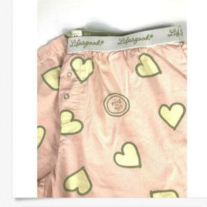 Life is Good Medium Pajama PJ Pants Hearts Lounge